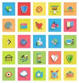 picture of universal sign  - Flat icon set  - JPG