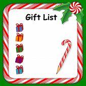 Christmas Holiday Gift List