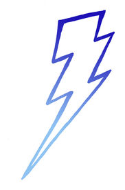 picture of lightning bolt  - Dark and light blue lightning bolt in vertical position - JPG