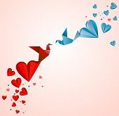 Paper heart.