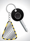 Key With Metallic Keyholder