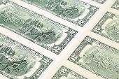 pic of two dollar bill  - Close up of two - JPG