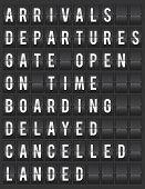 Flight board information display illustration