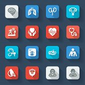Medical Specialties. Healthcare Flat Icons