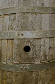 Empty Wood Beer Barrel
