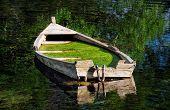 Abandoned boat at Ohrid Lake - Macedonia