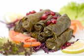 Stuffed vine leaves with (lebanese cuisine)