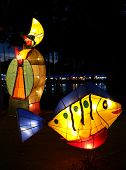 Colorful Lantern At The 2014 Lantern Festival In Taiwan