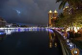 The Love River During The 2014 Lantern Festival In Taiwan