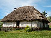 Traditional House Of Navala Village, Viti Levu, Fiji