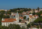 Panorama of the city of Sintra, Portugal