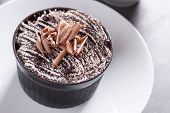Close Up Of Chocolate Mousse