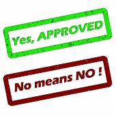 Yes No Means No Stamp