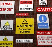 Building warning signs
