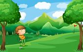pic of ladies golf  - Illustration of a woman playing golf - JPG