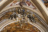Naples, Italy - April 12, 2014: Murals Inside The Church Of Certosa Di San Martino In Naples, Italy.