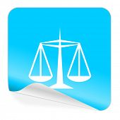 justice blue sticker icon