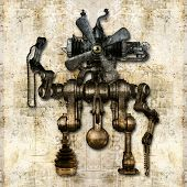 Antique Mechanical Figure
