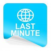 last minute blue sticker icon