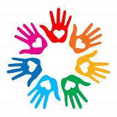 Loving Hand Print icon 7 colors