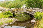 Packhorse bridge Watendlath Tarn Lake District Cumbria England between Borrowdale and Thirlmere