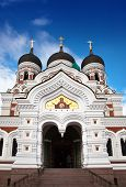 Alexander Nevsky Cathedral. Old city Tallinn Estonia.