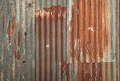 Corrugated Metal Wall Texture