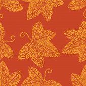 Tribal tattoo pattern. Ivy leaf