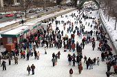 Skaters enjoying the Winterlude Festival in Ottawa