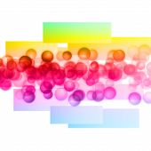 Fantastic Abstract Powerful Bubbles Background Design Illustration
