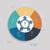 Infographics element design for workflow layout, diagram, number options, web design.