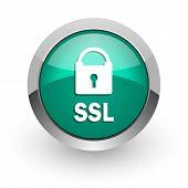 ssl green glossy web icon