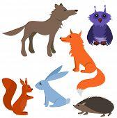 Set with wild animals