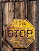 Glass Bead Stop Sign