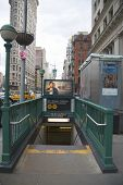 Subway entrance at 23rd Street in NYC