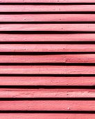 Old Red Painted Wood Wall