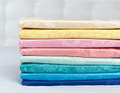 Set of various multicoloured silk