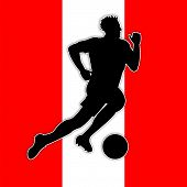 Austrian Soccer Means Game Flag And National