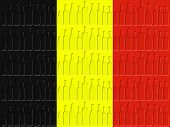 Belgium Flag Represents Nationality Wine-glass And Winery