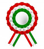 Hungarian Rosette Shows National Flag And Badge