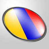 Columbian Badge Means South American And Button
