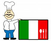 Chef Italy Represents Cooking In Kitchen And Europe
