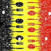 Belgian Food Means Foodstuff Restaurant And European