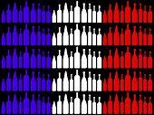 Wine Flag Indicates Patriotic Patriot And Eating