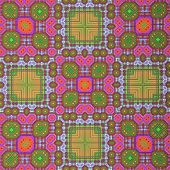 Retro Pattern Magenta Red Green