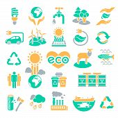 Eco Icons Silhouettes in Three Colors