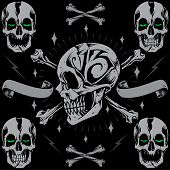 picture of dead-line  - Skulls bone cross  - JPG