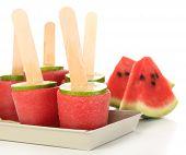 Watermelon ice-cream, isolated on white