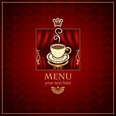 Menu with cup