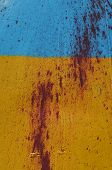 KIEV, UKRAINE - JULY 15, 2014. Ukraine flag graffiti .Civil War in Ukraine. July 15, 2014 Kiev, Ukra
